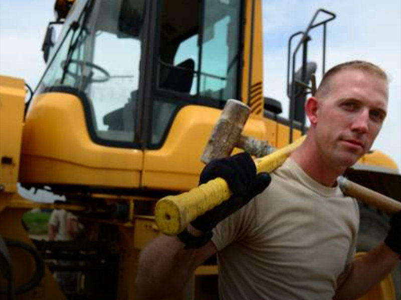 In the Airforce, learn to be a Construction Equipment Operator